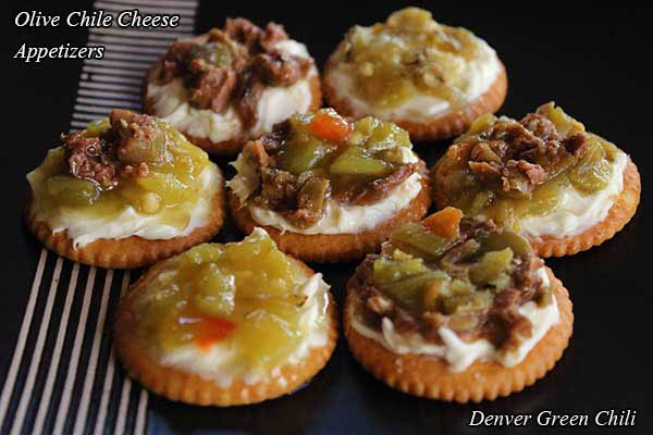 Olive Chile Cheese Appetizers