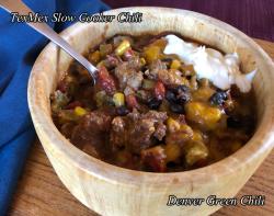 Tex Mex Slow Cooker Chili