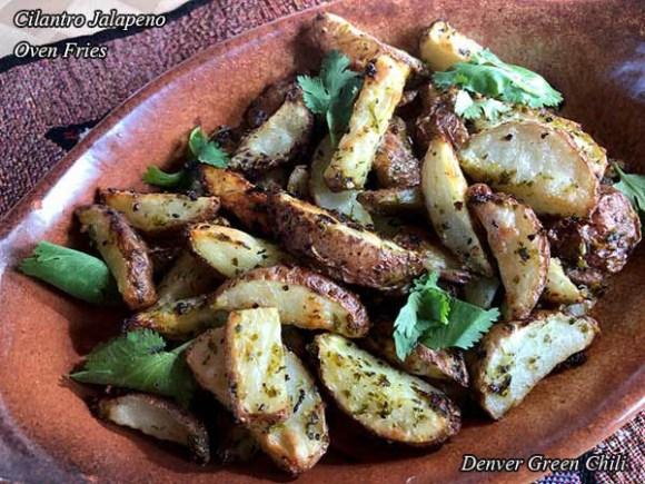 Cilantro Jalapeno Oven Fries