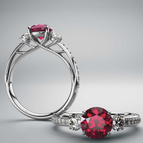 Ruby Engagement Rings by Denver Jewelers