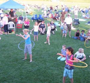 children at a denver municipal band concert