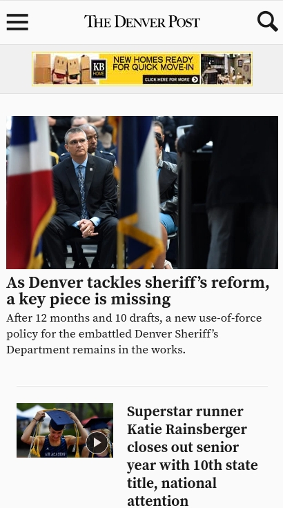 Denver Post on mobile