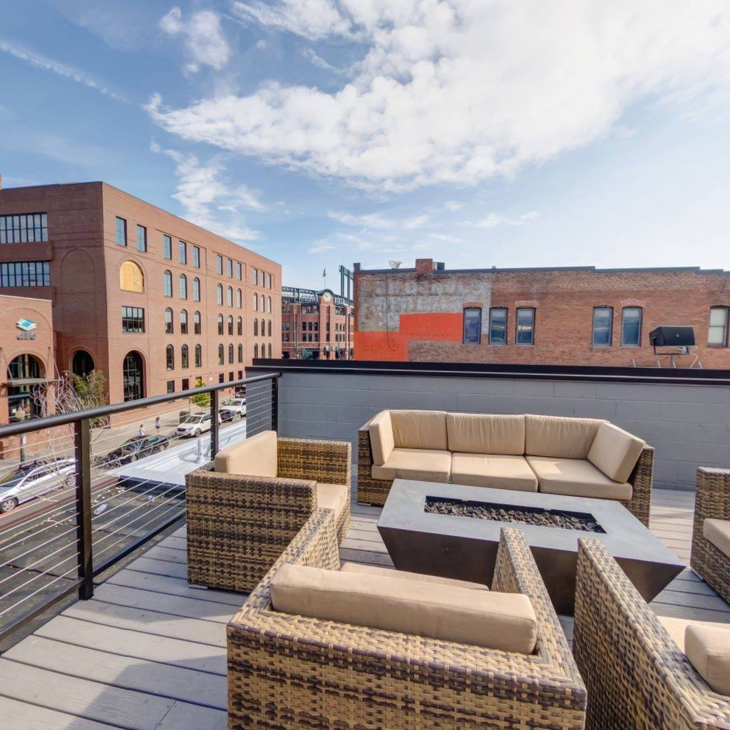 Rooftop Sitting Place in Denver Sports Column