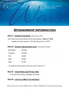 2019 DSS Banquet Sponsorship Updated – 1-18-19