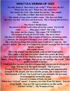 What Is A Mighty Woman Of God?