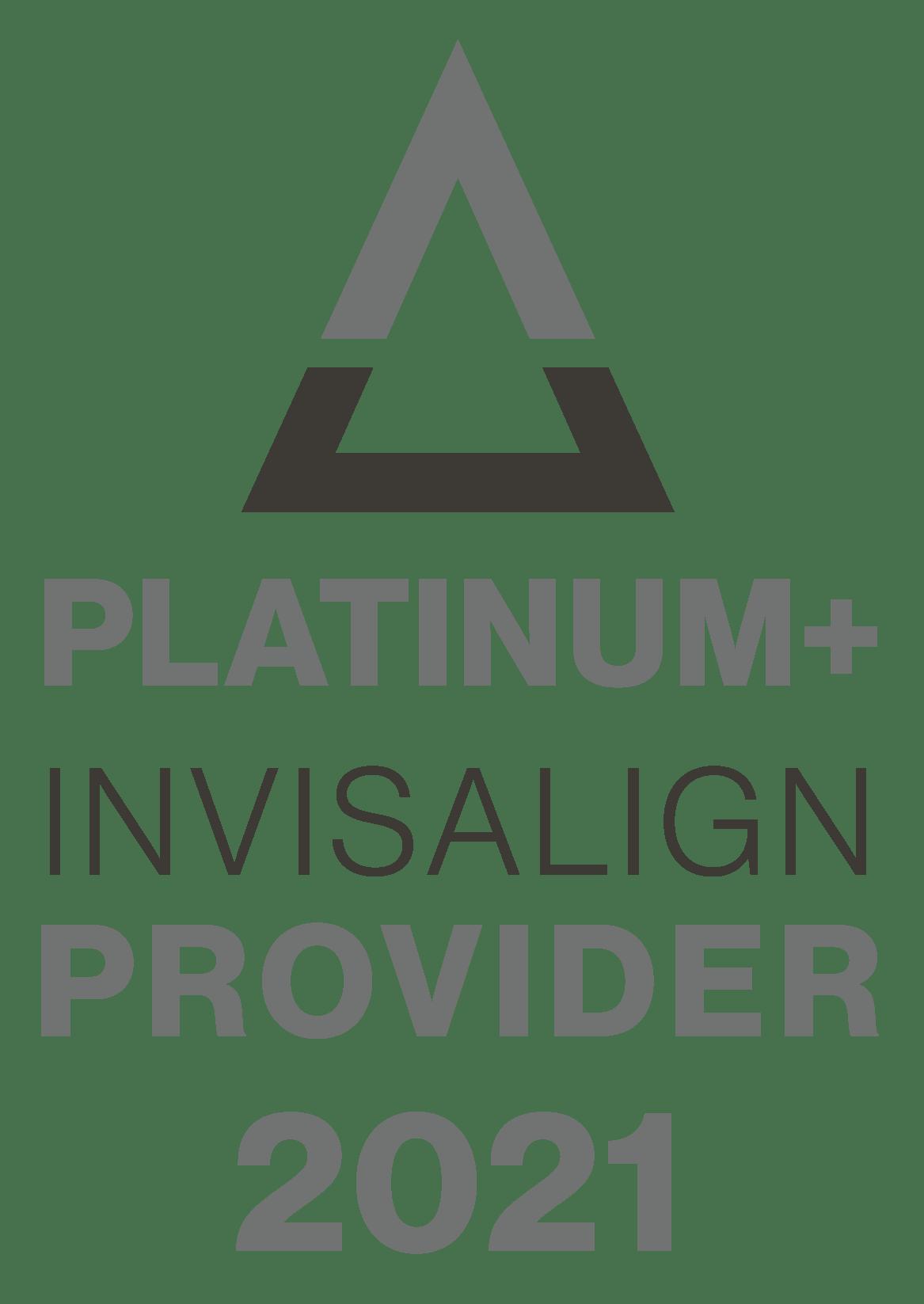 Platinum Invisalign Provider 2021 Badge