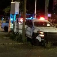 Patrulla de la Guardia Nacional se estrella en Irapuato
