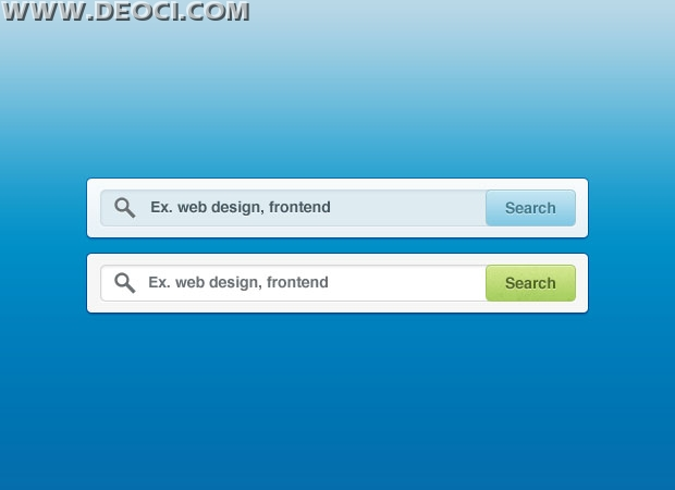 Two Large-size Web 2.0 Search Box Design PSD Material Free