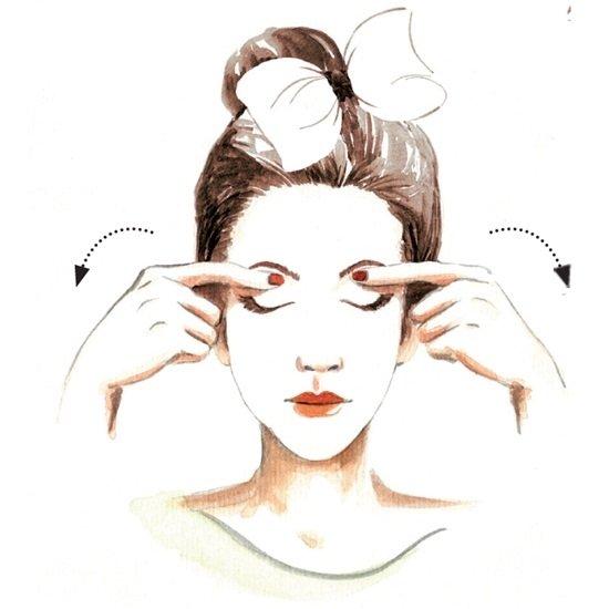 Cách mát xa mặt vùng mắt