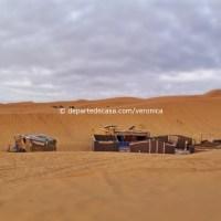 cu cortul in Maroc