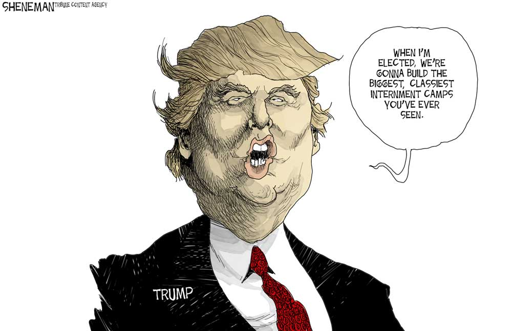 Image result for cartoon trump economic plan new york economic club