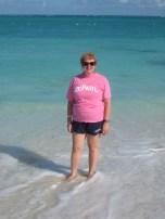 JoAnn Peterson-Montecki (BUS '81, MAC '82) at Grace Bay Beach, Turks and Caicos.