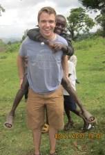 Sam Bostrom (CSH '12) in Chepnyal, Kenya.