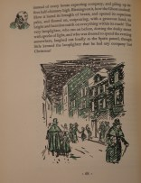 Dickens experienced an unusually snowy childhood in London, which helps explain why images like these from the 1940 edition permeate the public consciousness of England at Christmastime.