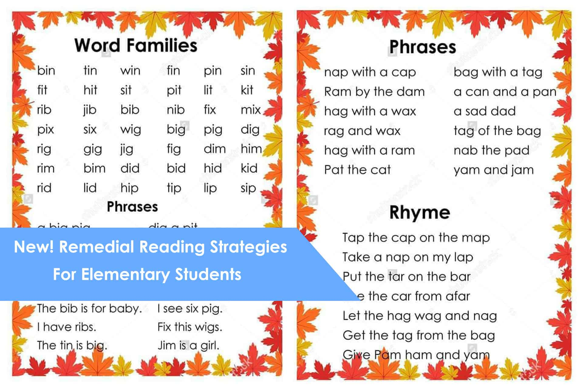 New Remedial Reading Strategies For Elementary Students