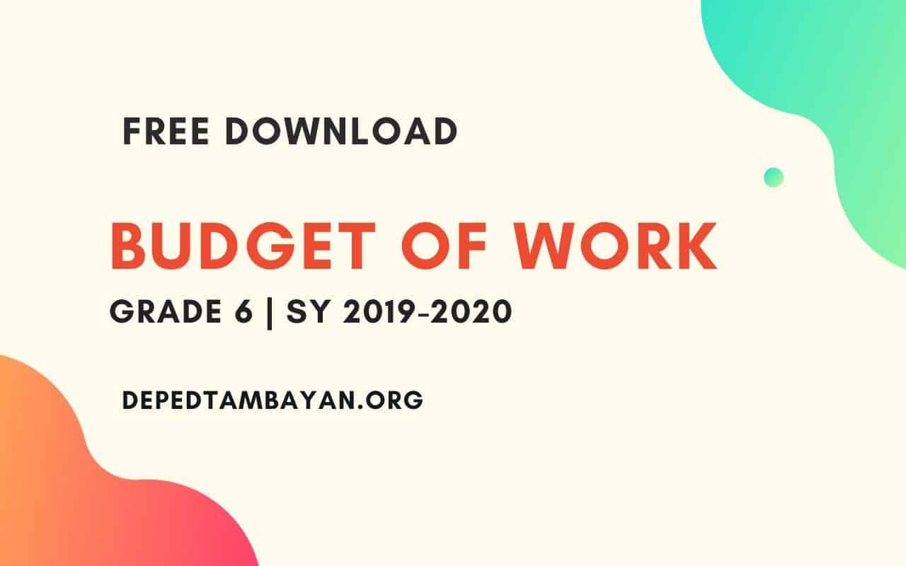 Grade 6 Budget Of Work