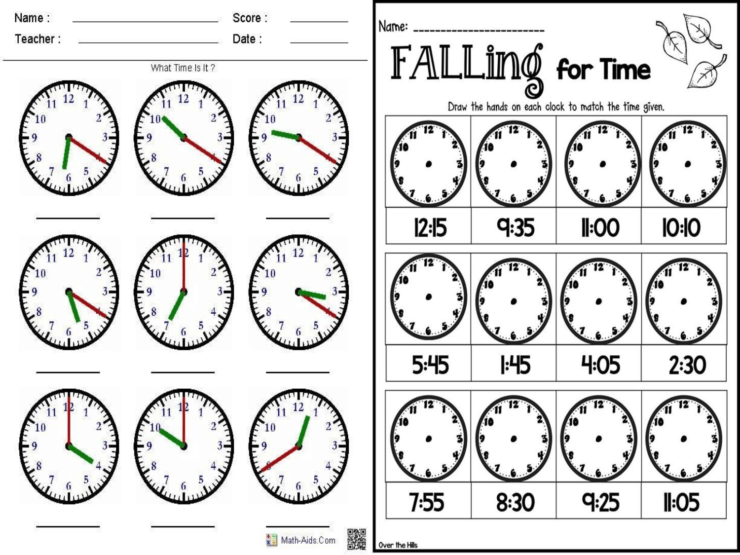 How To Read Time Worksheets