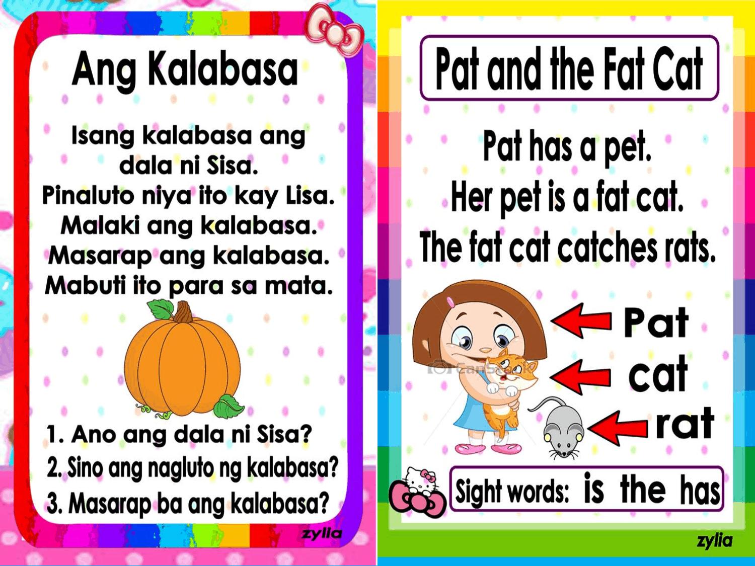 Filipino And English Short Stories