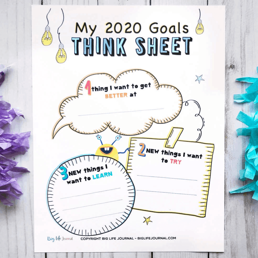 New Years Resolution Guide Questions Worksheets