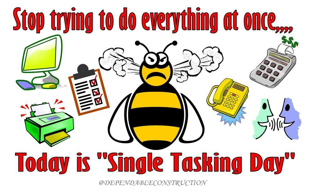 Single Tasking Day 2021