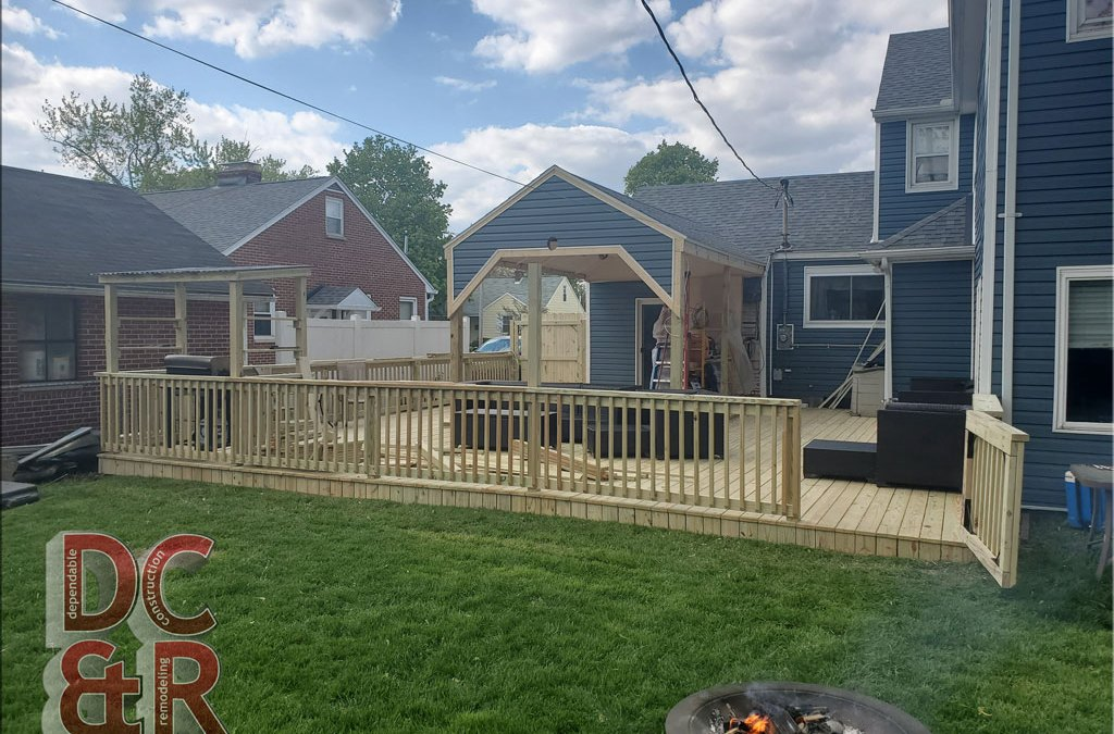 New Deck, Covered Patio & Privacy Fence.