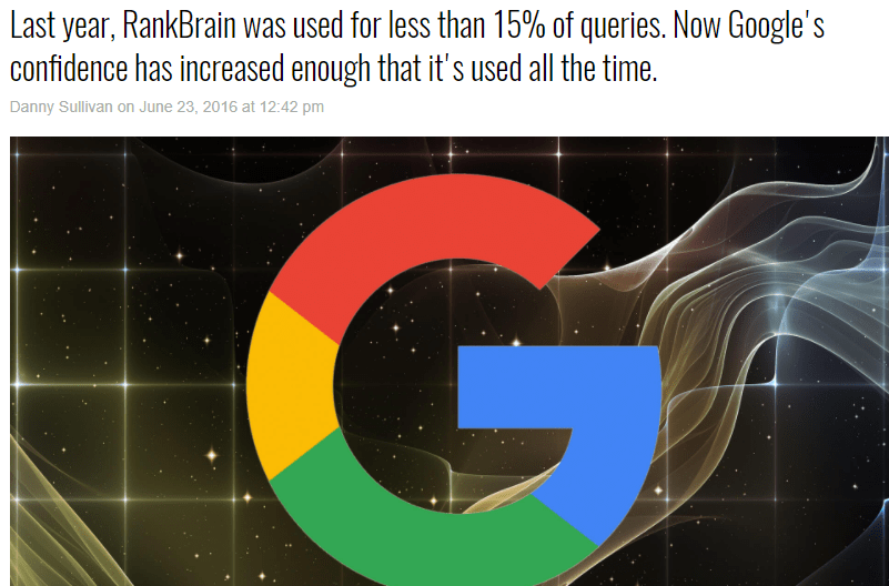 RankBrain in Google and its impact on Ranking