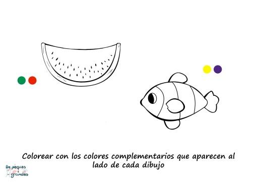 lámina sandía y pez