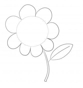 formas sencillas flor paso 4
