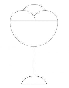 PASO 4: pintamos tres líneas curvas que serán las bolas de helado