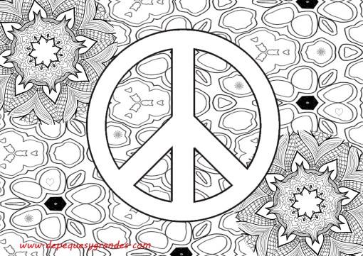 símbolo de la paz con fondo