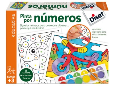 caja del juego pinta por números