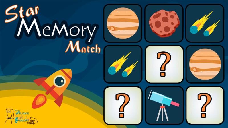 logo Star Memory Match juego de memoria
