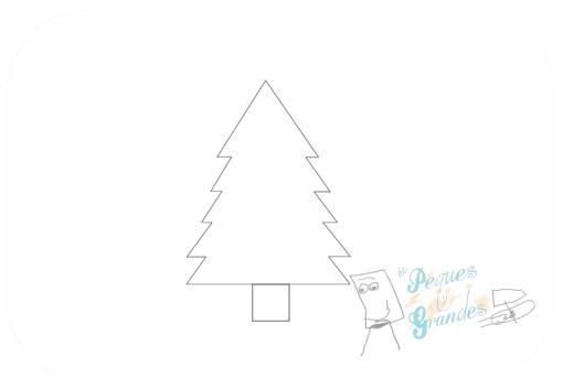 paso 2 dibujo árbol de navidad
