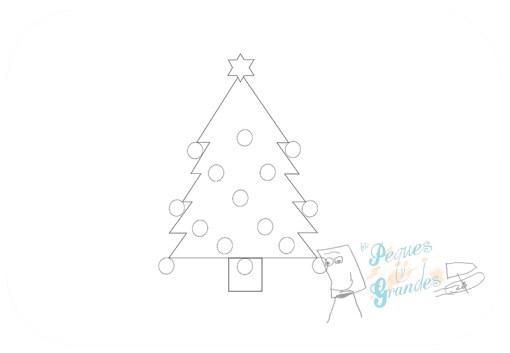 paso 4 dibujo árbol de navidad