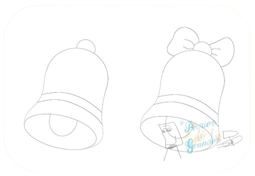paso 3 dibujo de campana