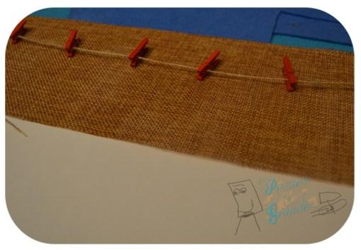 detalle de arpillera y pinzas