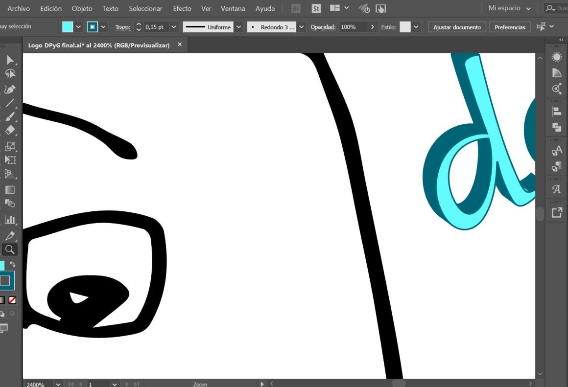Vectorización de logo y diseño de tarjeta : logo de cerca