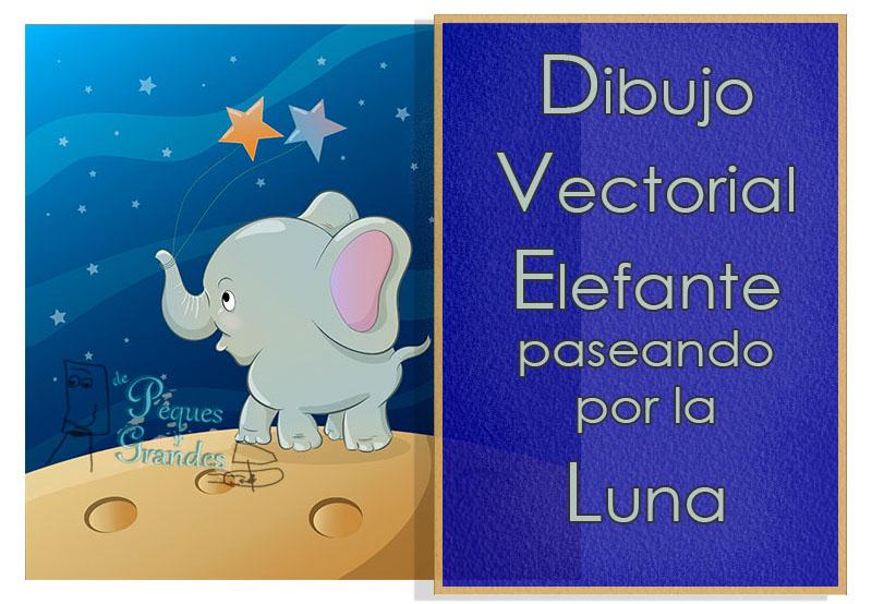 Dibujo vectorial elefante