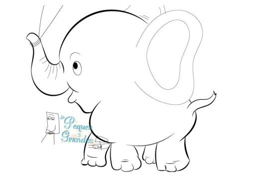 trazado elefante