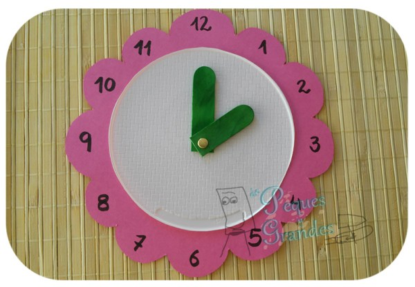 reloj para aprender la hora DIY acabado