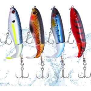 señuelos de pesca con cola giratoria