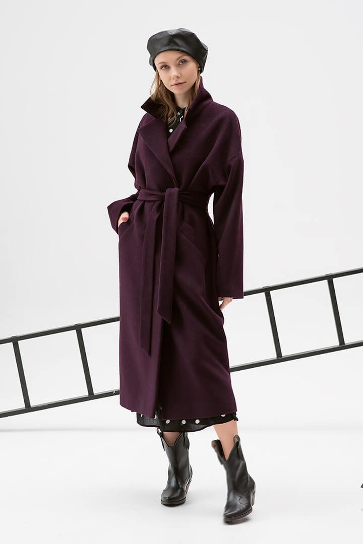 Пальто-халат слива DEplace