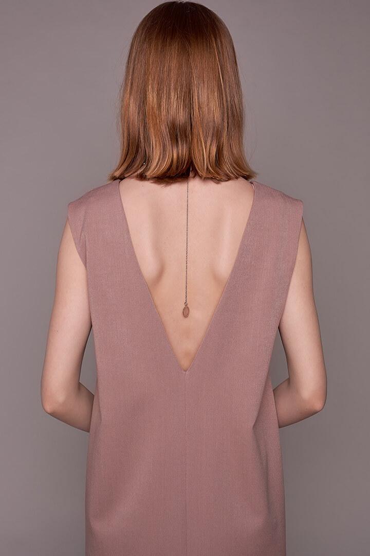 Платье с вырезом на спине DEplace