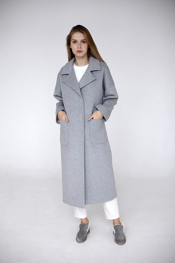 Пальто серое DEplace