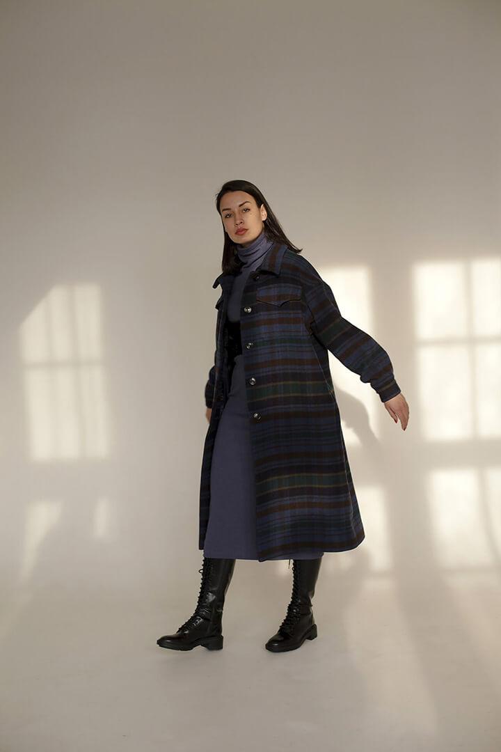 Пальто в клетку DEplace