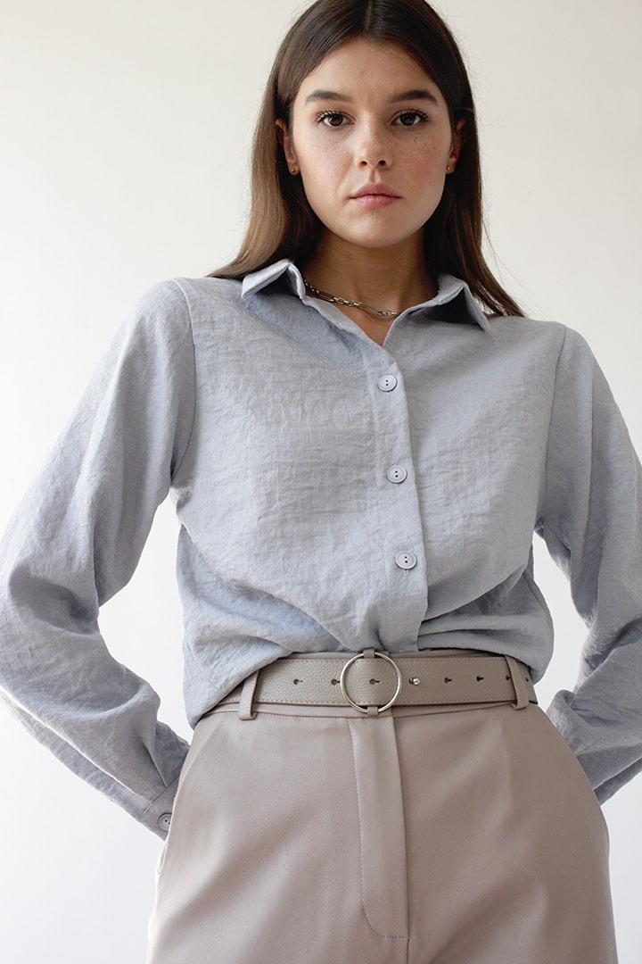 Рубашка из жатой ткани DEplace