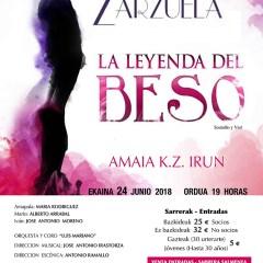 """Zarzuela """"La leyenda del beso"""" en el Amaia KZ (Irun)"""