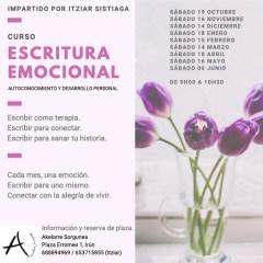 CURSO DE ESCRITURA EMOCIONAL – ITZIAR SISTIAGA (IRUN)