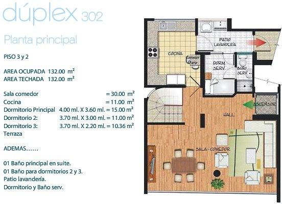 plano-departamento-duplex-132m2-primera-planta