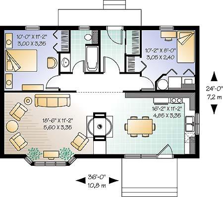Casa de 1 piso 2 habitaciones y 80 metros cuadrados for Cuarto de 10 metros cuadrados